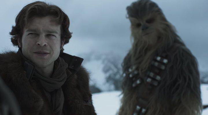 Alden Ehrenreich como Han Solo junto a Chewbacca