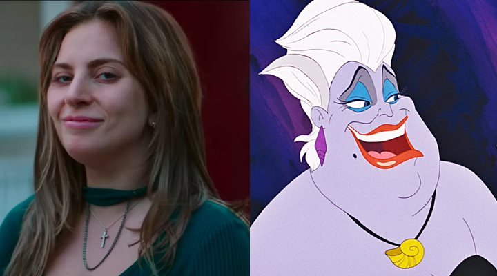 Lady Gaga (izquierda) y Úrsula (derecha)