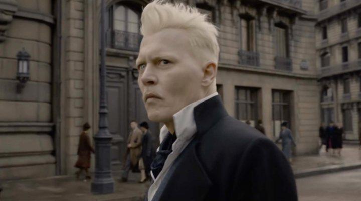 Johnny Depp como Gellert Grindelwald en 'Animales Fantásticos: Los crímenes de Grindelwald'