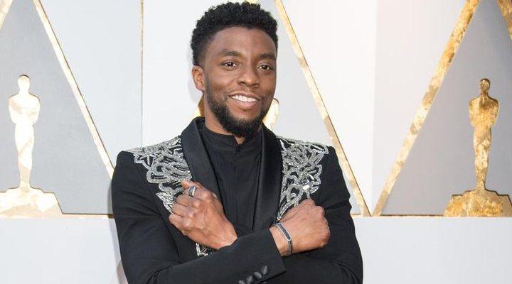 Chadwick Boseman, protagonista de 'Black Panther, en la 90º gala de los Oscar.