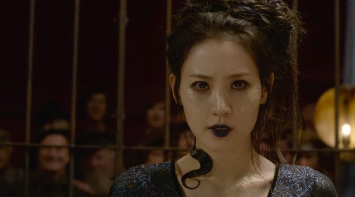 Claudia Kim como Nagini en 'Animales Fantásticos: Los crímenes de de Grindelwald
