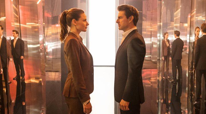 Rebecca Ferguson y Tom Cruise en 'Misión Imposible: Fallout'