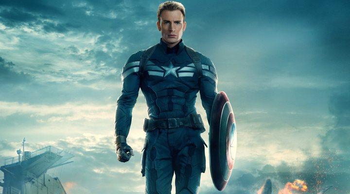 Chris Evans como el Capitán América en 'Capitán América: El soldado de invierno'