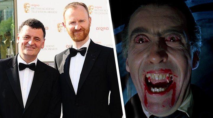 Mark Gatiss y Steven Moffat; fotograma de 'Drácula de Bram Stoker'