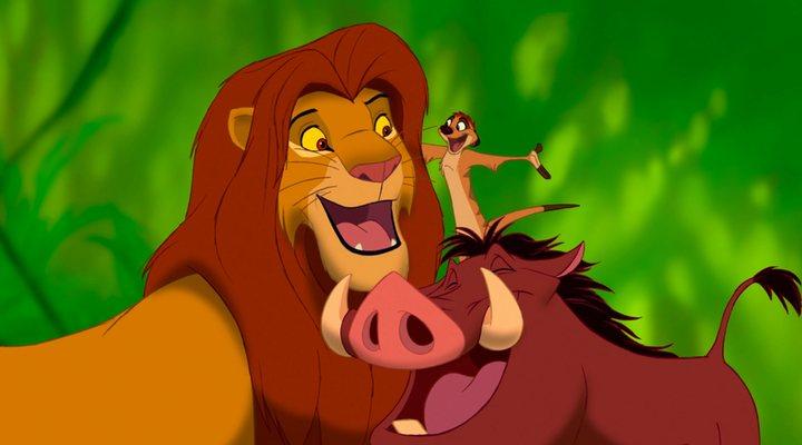 Simba, Pumbaa y Timon, de 'El rey león'