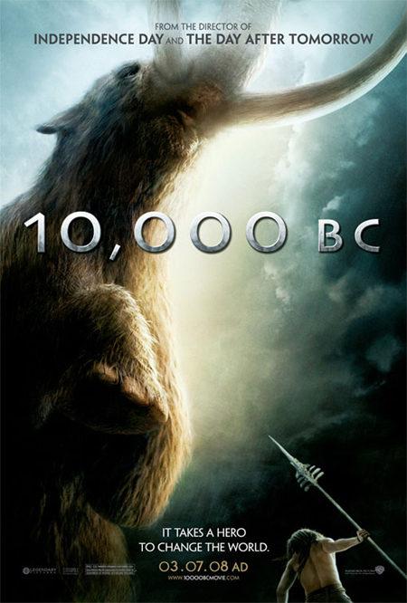 Primer cartel oficial de '10.000BC'