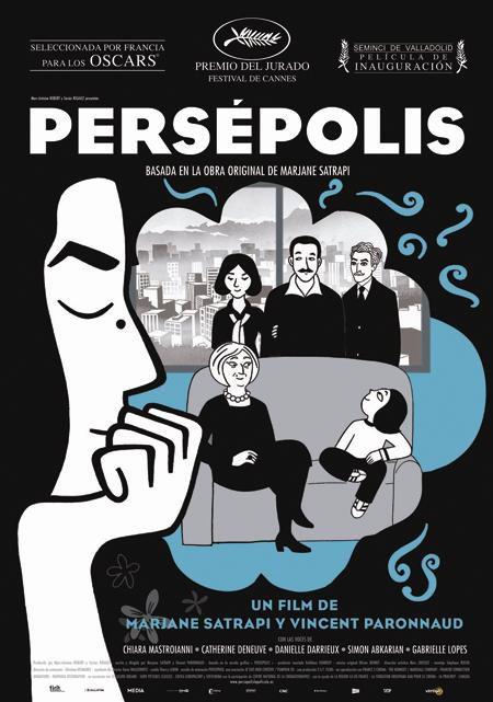 Cartel en castellano de 'Persépolis', la candidata gala a los Oscar
