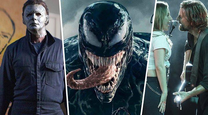 'La noche de Halloween', 'Venom' y 'Ha nacido una estrella'
