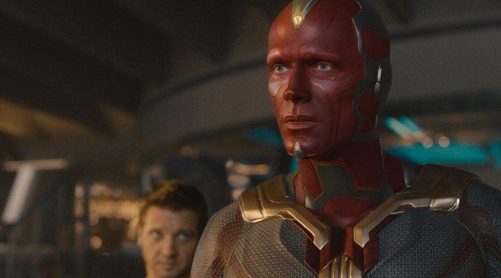 Paul Bettany como Visión en 'Vengadores: La era de Ultrón'