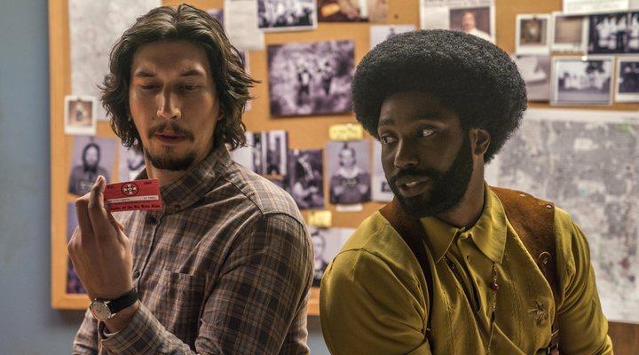 Adam Driver y John David Washington en 'Infiltrado en el KKKlan'