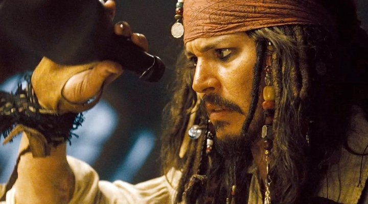 Johnny Depp en 'Piratas del Caribe'