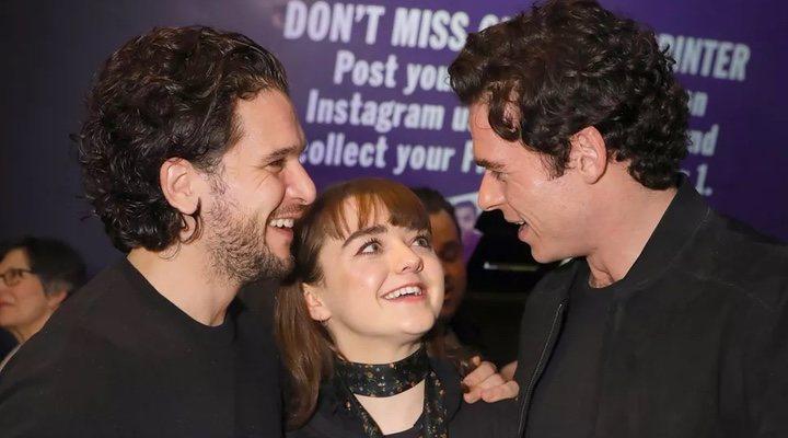 Kit Harington, Maisie Williams y Richard Madden