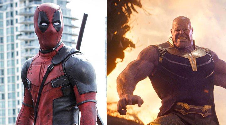 Deadpool (izquierda) y Thanos (derecha)