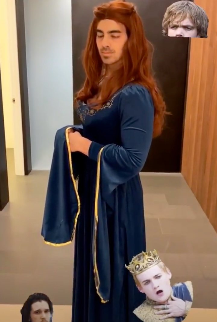 Imagen de Joe Jonas disfrazado de Sansa Stark