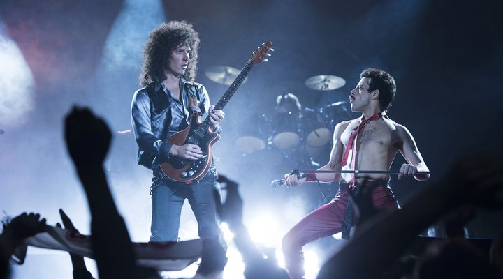 Rami Malek y Gwilym Lee en 'Bohemian Rhapsody'