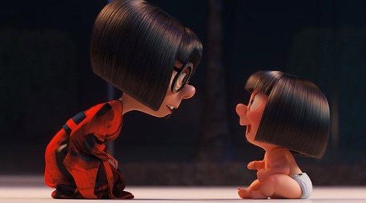 Imagen de Edna y Jack-Jack en 'Los increíbles 2'