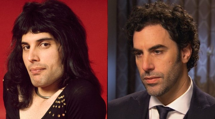Freddie Mercury y Sacha Baron Cohen