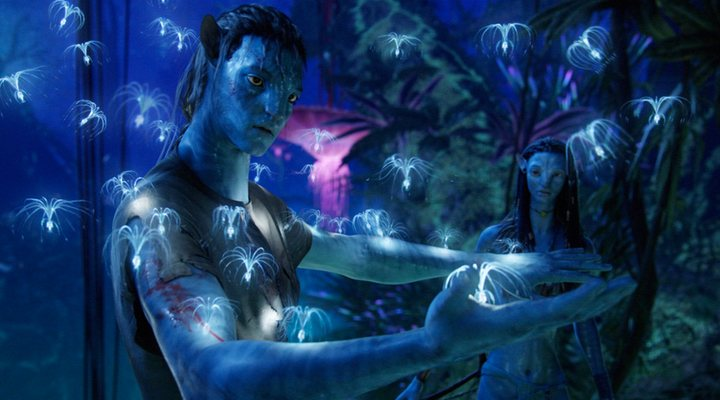 Sam Worthington y Zoe Saldana en 'Avatar'
