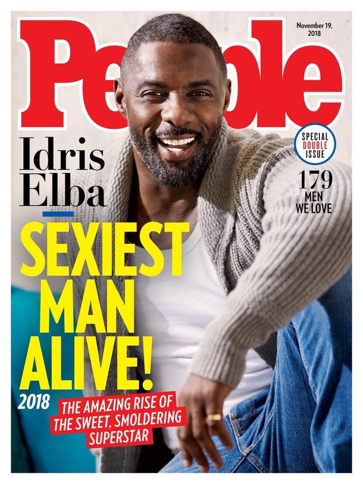 Portada de la revista People con Idris Elba