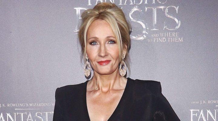 Imagen de J.K. Rowling en el estreno de 'Animales fantásticos'