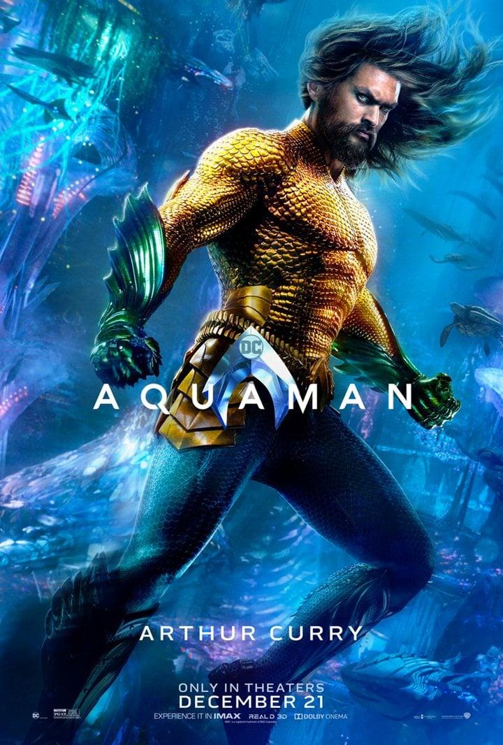 Póster individual de Jason Momoa para 'Aquaman'