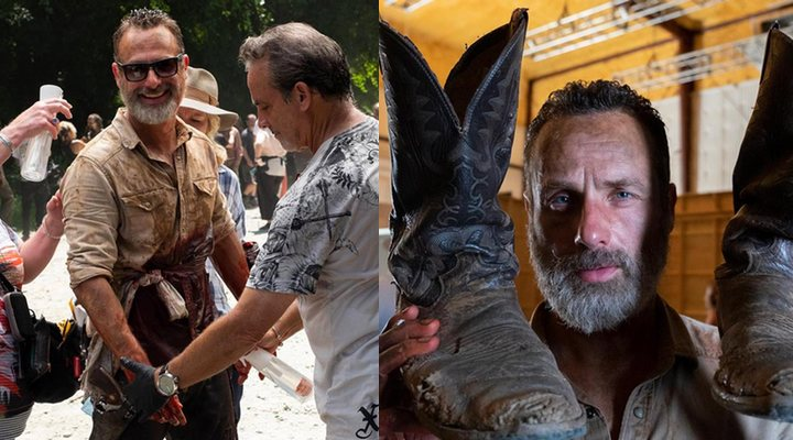 Andrew Lincoln en el set de rodaje de 'The Walking Dead'