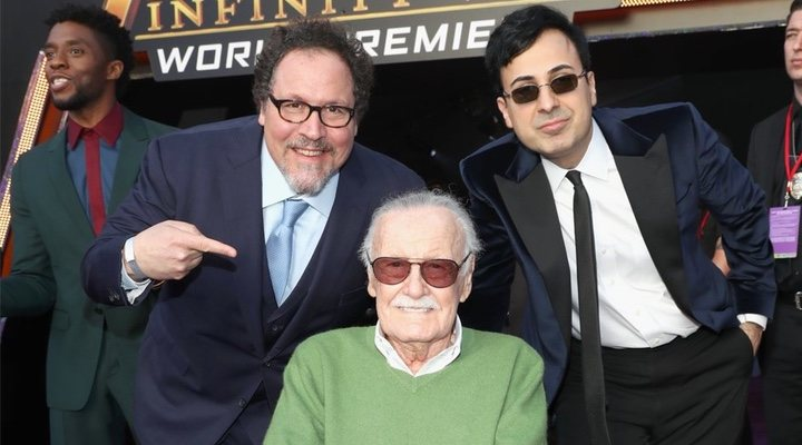 Stan Lee en la premiere de 'Vengadores: Infinity War'
