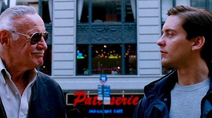 Stan Lee y Tobey Maguire en 'Spider-Man 3'