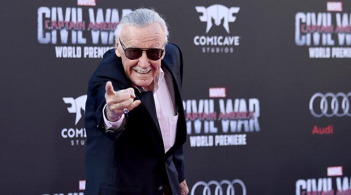 Stan Lee en la premiere de 'Capitán América: Civil War'