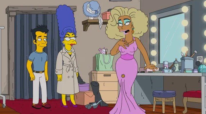 Imagen de RuPaul en 'Los Simpson'