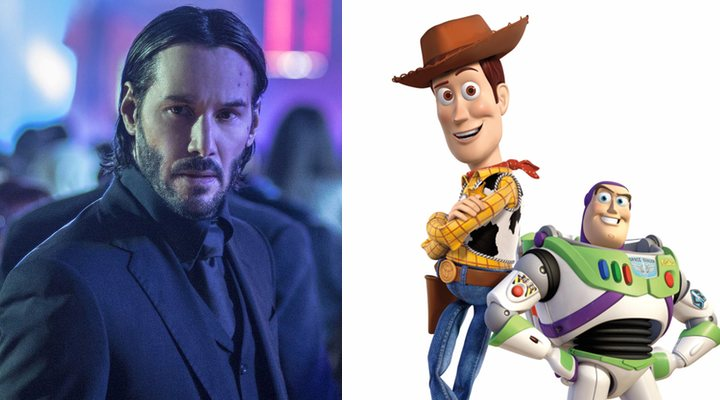 Keanu Reeves, Woody y Buzz Lightyear