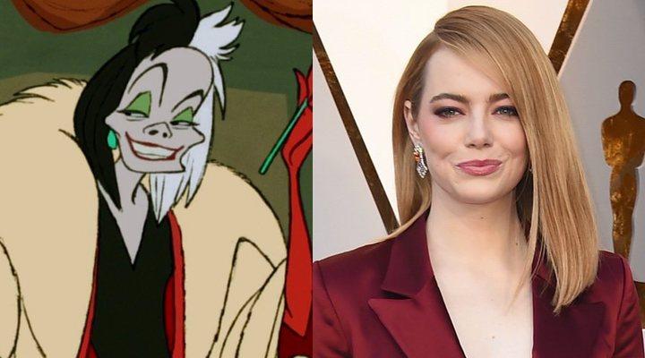 Cruella de Vil y Emma Stone