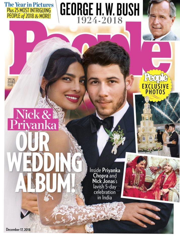 Portada de la revista People con Nick Jonas y Priyanka Chopra