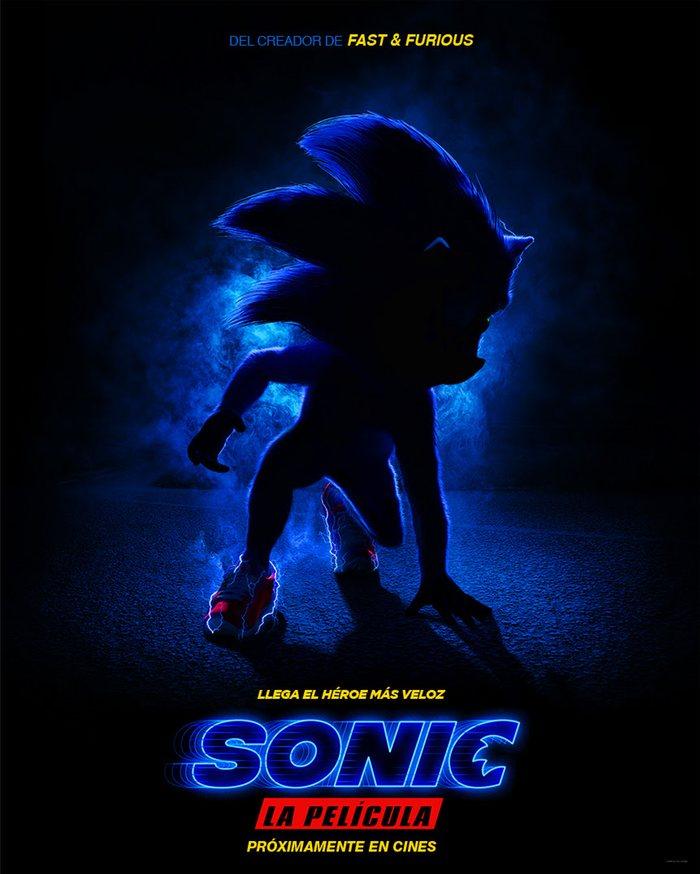 Teaser póster de 'Sonic; La película'