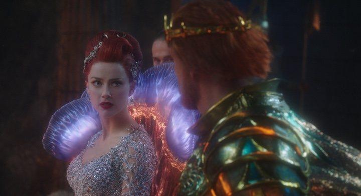 Amber Heard y Dolph Lundgren en 'Aquaman'