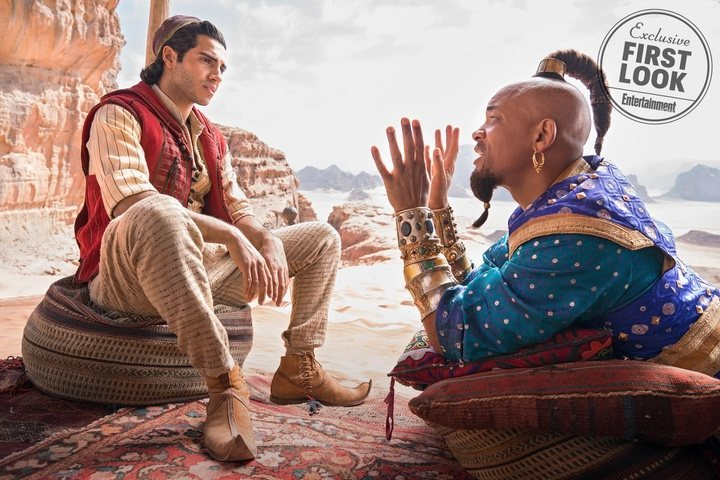 Mena Massoud y Will Smith en el remake de 'Aladdin'