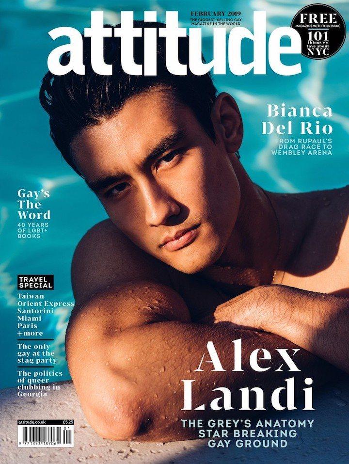 Alex Landi en la portada de Attitude Magazine