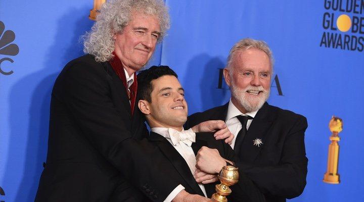 El equipo de 'Bohemian Rhapsody' en los Globos de Oro