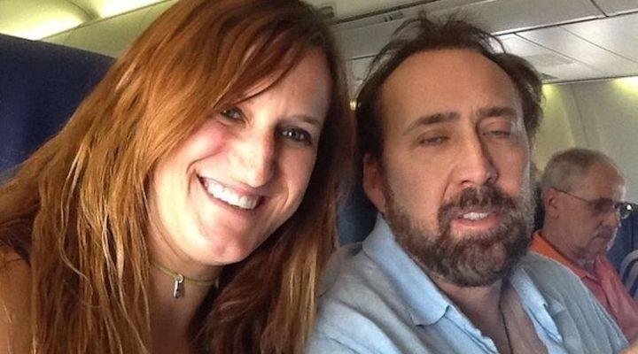 Una fan con Nicolas Cage