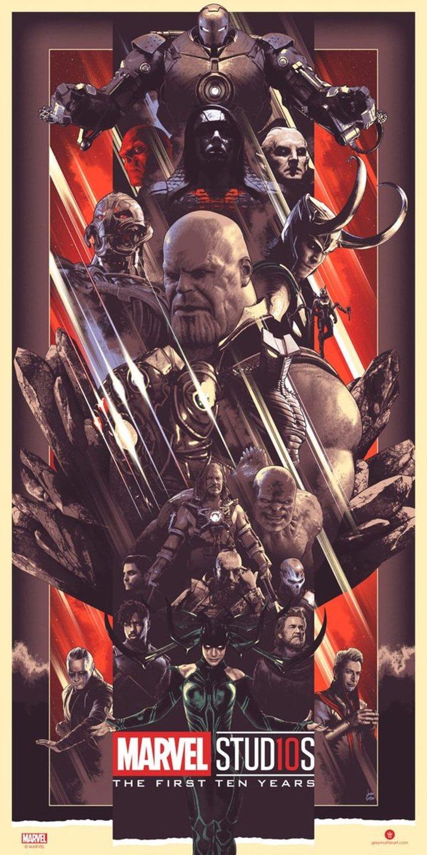 Marvel diez años pósters