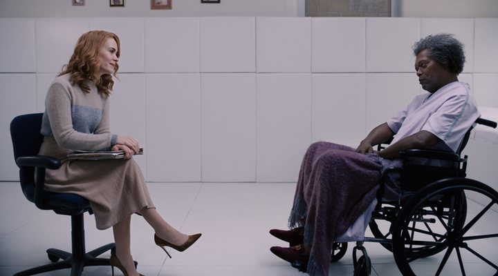Sarah Paulson y Samuel L. Jackson en 'Glass (Cristal)'