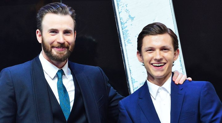 Tom Holland y Chris Evans