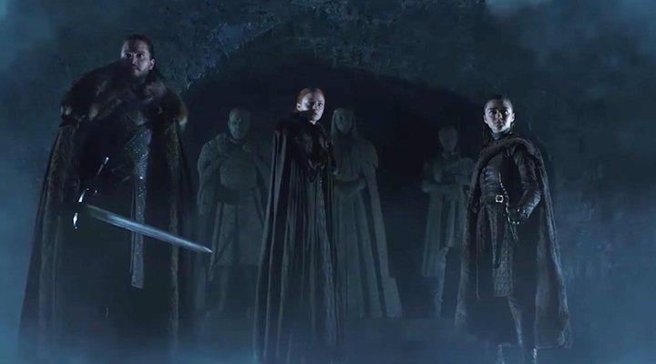 Jon Nieve, Sansa y Arya Stark