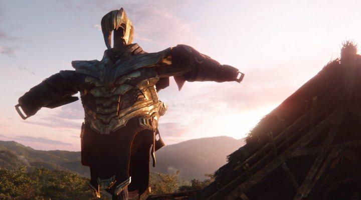 La armadura de Thanos en Infinity War