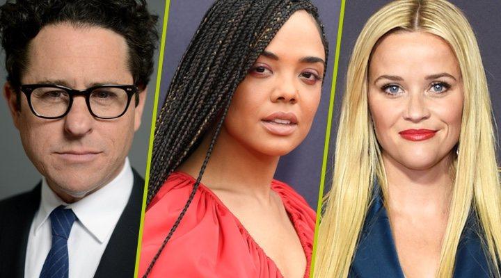 J.J. Abrams, Tessa Thompson y Reese Witherspoon