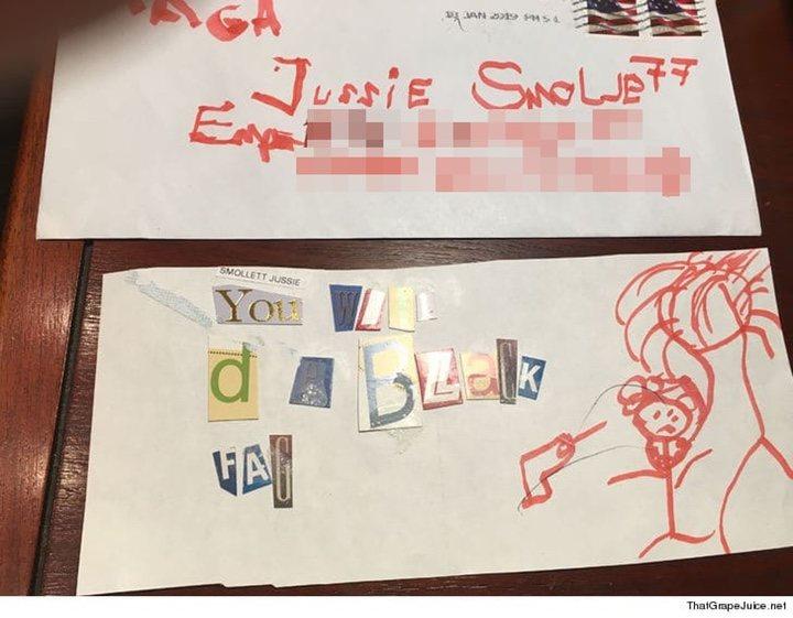 amenaza a Jussie Smollett