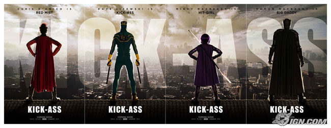 Website y carteles de 'Kick-Ass'