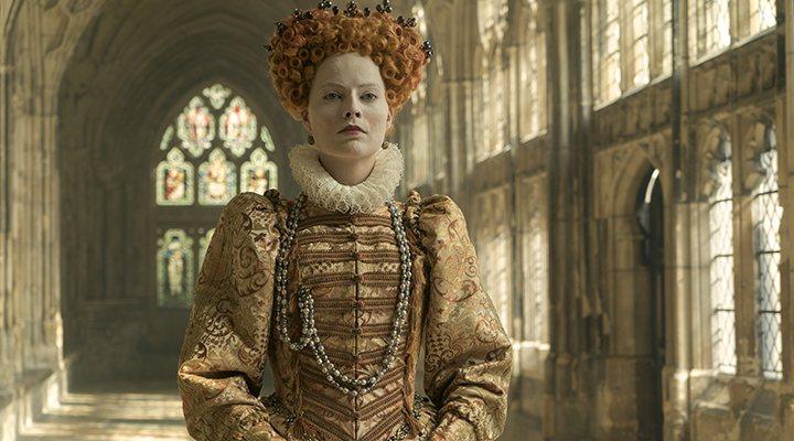 'Margot Robbie como Isabel I en 'María Reina de Escocia''
