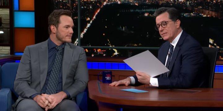 Chris Pratt y Stephen Colbert