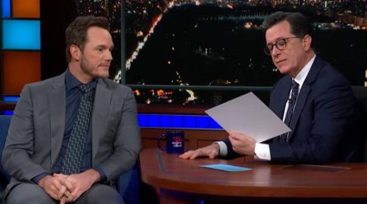 Chris Pratt en el show de Stephen Colbert
